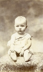 France Paris Baby Fashion Issabelle Thomas Old CDV Photo Fontes 1900