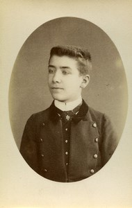 France Paris Schoolboy Young Man Fashion Old CDV Photo Louis 1900