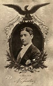 France Propagande pour le Rétablisement du Second Empire Prince Imperial ancienne Photo 1875