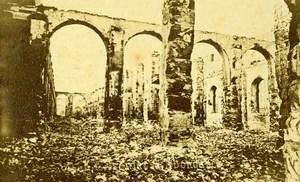 Siege de Paris Commune Ruines Greniers d'Abondance Interieur ancienne Photo CDV Liebert 1871