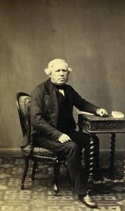 France Paris Portrait Man Sitting Second Empire Old Photo CDV Mouret 1860's
