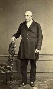 France Paris Portrait Standing Man Second Empire Old Photo CDV Semah 1860's