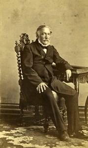 France Paris Portrait Man Sitting Second Empire Old Photo CDV Piallat 1860's