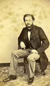 France Paris Portrait Man Sitting Second Empire Old Photo CDV Moriss 1860's
