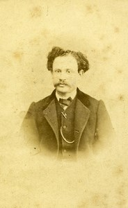 France Paris Portrait Man Second Empire Lavendrier? Old Photo CDV Raoult 1860's