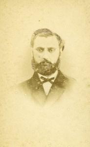 France Rouen Portrait Man Beard Old Photo CDV Tourtin 1870'