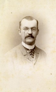 France Lille Portrait Man Hyart Old Photo CDV Damry 1870'