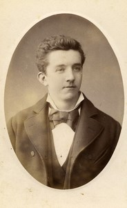 France Lille Portrait Young Man Old Photo CDV Cayez 1870'