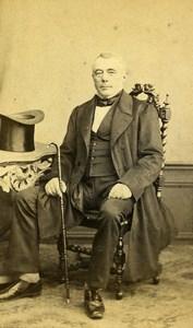 France Lille M. Leroy Mode Second Empire Haut de Forme ancienne Photo CDV Leblondel 1860's