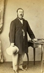 France Rouen Portrait Georges Hyart Second Empire Old Photo CDV Witz 1860's