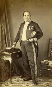 France Compiegne Portrait Paradis Second Empire Medals Photo CDV Hideux 1860's