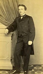 France Boulogne sur Mer Portrait Man Second Empire Photo CDV Verneuil 1860's