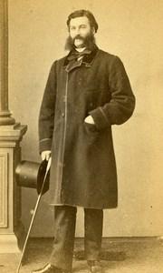 France Rouen Portrait Man Sideburns Second Empire Old Photo CDV Witz 1860's