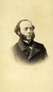 France Strasbourg Portrait Man Sideburns Second Empire Old Photo CDV Winter 1863