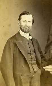 France Beauvais Portrait Bearded Man Second Empire Old Photo CDV Herbert 1860's
