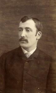 France Versailles Portrait Man Moustache Old Photo CDV Georges 1880'