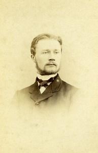 France Rouen Portrait Man Beard Old Photo CDV Witz 1870'