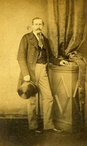 Belgium Chimay Portrait Man Old Photo CDV Kirsch 1860'