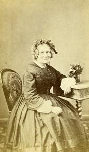 France Paris Second Empire Fashion Woman Old Photo CDV Mouret 1860'