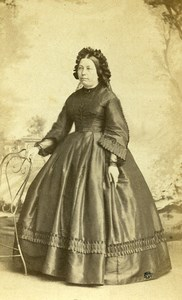 France Paris Second Empire Fashion Woman Old Photo CDV Trinquart 1860'