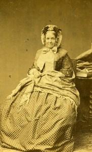 France Paris Femme Mode Second Empire ancienne Photo CDV Petit et Trinquart 1860'