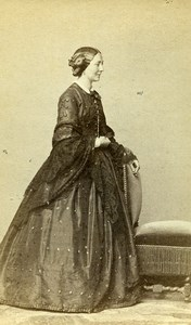 France Paris Second Empire Fashion Woman Old Photo CDV Franck 1860'