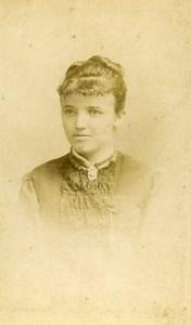 France Paris Fashion Woman Portrait Old Photo CDV Numa Blanc Fils 1870'