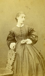 France Paris Second Empire Fashion Woman Old Photo CDV Thiboust Jeune 1860's