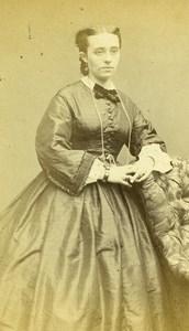France Marie Baudouin Second Empire Fashion Woman Old Photo CDV Carjat 1860'