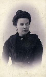Belgium Menin Fashion Woman Old Photo CDV Pille 1900