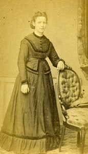 France Lille Marina Parsy Fashion Woman Old Photo CDV Bury 1871