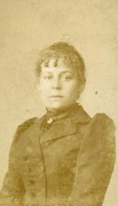 France Lille Fashion Woman Old Photo CDV Paul Van Laethem 1890'