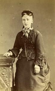 France Rouen Second Empire Fashion Woman Old Photo CDV Witz 1870's