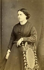 France Beauvais Second Empire Fashion Woman Old Photo CDV Herbert 1860'