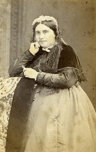 France Beauvais Second Empire Fashion Woman Old Photo CDV Herbert 1860'