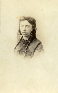 France Mulhouse Mme Schlumberger Fashion Woman Old Photo CDV Dardel 1860'