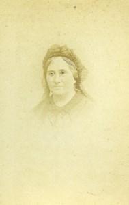 France Orleans Fashion Woman Portrait Old Photo CDV Touzery 1870'