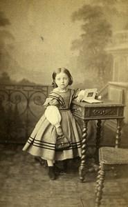 France Paris Jeune Fille Album Photo? Mode Second Empire ancienne Photo CDV Mouret 1860's