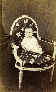 France Paris Baby Adrien Second Empire Bourse Fashion Old Photo CDV Rensch 1860s
