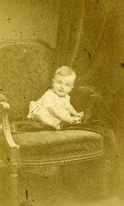France Paris Henri Geraud Bebe ancienne Photo CDV J. Tourtin 1870'
