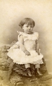 France Lille Fashion Child Toddler Old Photo CDV Mouth 1890'