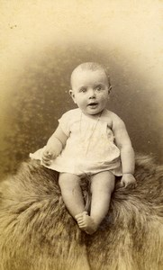 France Lille Fashion Children Baby Old Photo CDV Mouth 1890'
