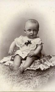 France Lille Fashion Baby sitting Old Photo CDV Cayez 1900