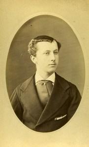 France Lille Young Man Fashion Old Photo CDV Cayez 1890'