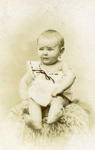 France Lille Fashion Baby sitting Old Photo CDV Michel 1890'