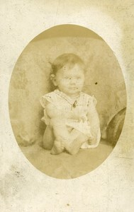 France Lille Fashion Baby sitting Old Photo CDV Deton 1890'