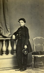 France Le Mans? Young Boy Fashion Children Old Photo CDV Gustave Jeune 1860'