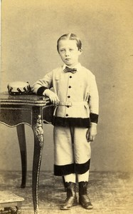 France Rouen Second Empire Fashion Children Old Photo CDV Witz 1860's