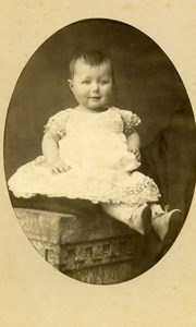 France Chartres Fashion Children Old Photo CDV Gallas 1880'