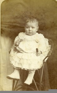 France Chartres Fashion Children Bouchard Old Photo CDV Gallas 1880'